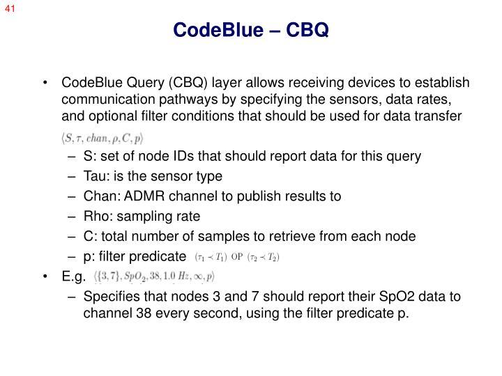 CodeBlue – CBQ