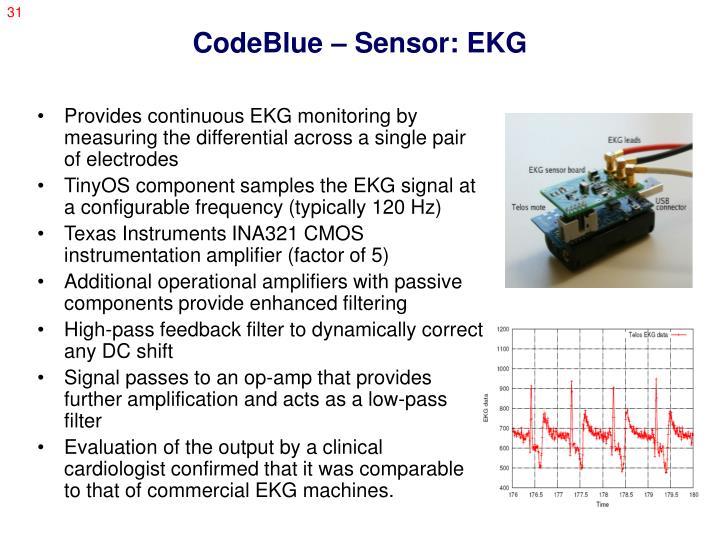 CodeBlue – Sensor: EKG