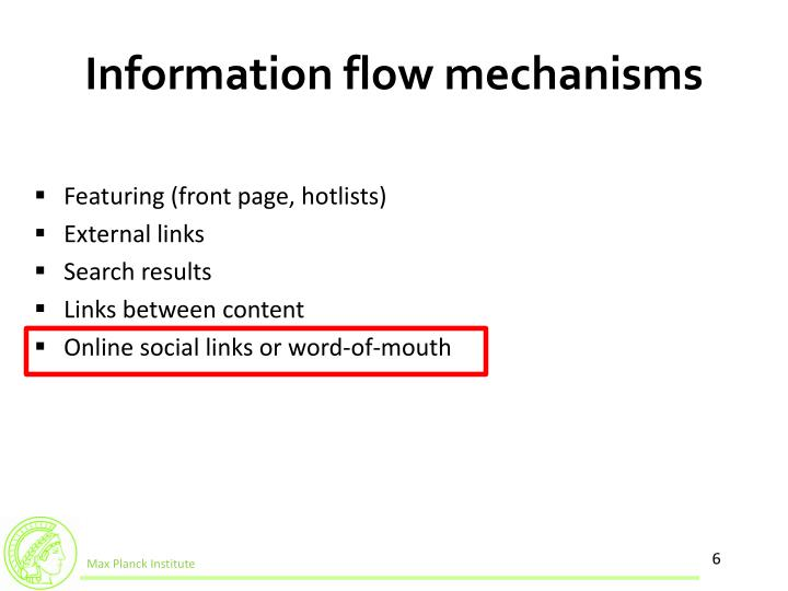 Information flow mechanisms