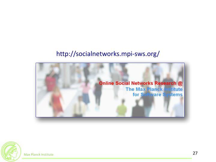 http://socialnetworks.mpi-sws.org/