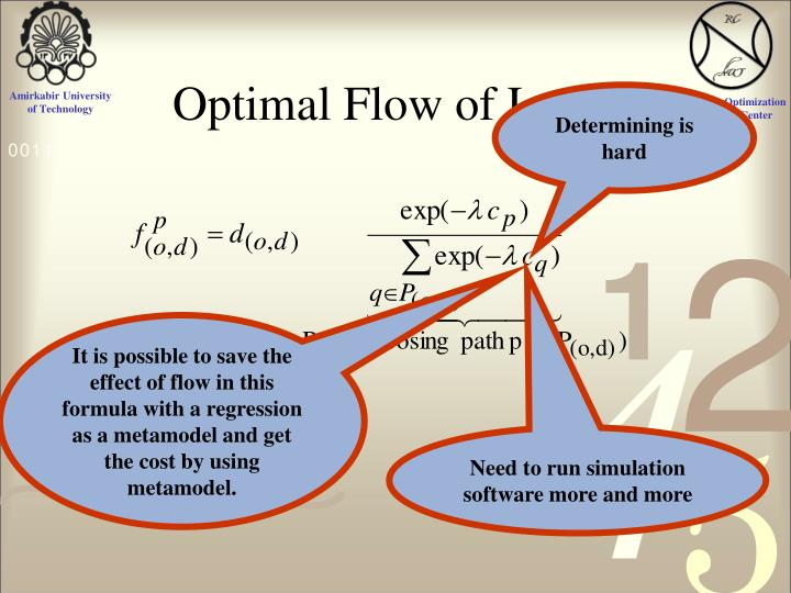Optimal Flow of Logit