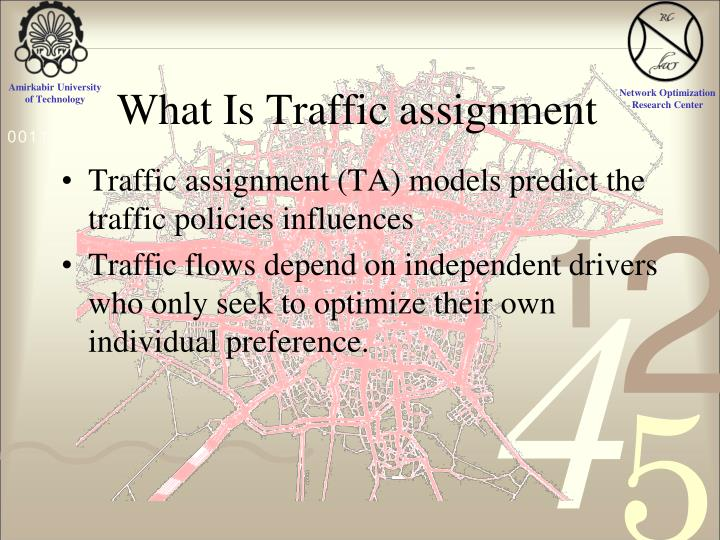 What Is Traffic assignment