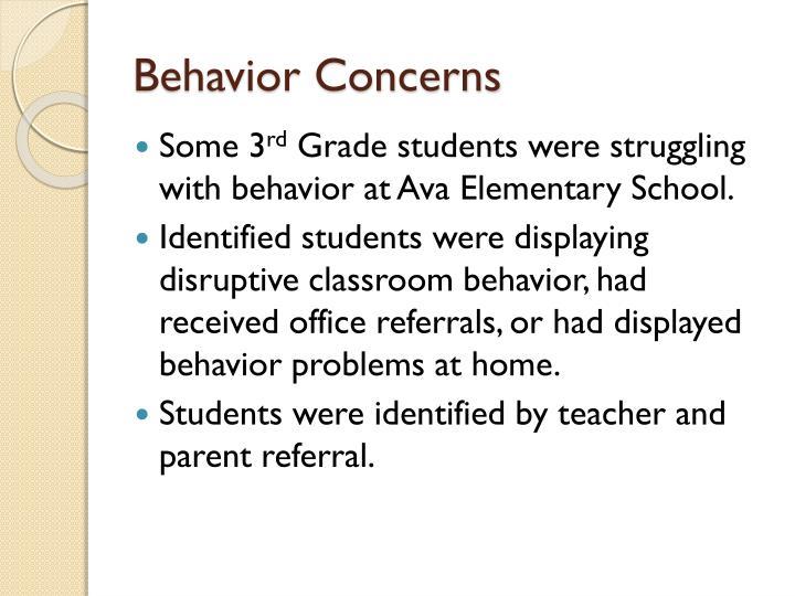 Behavior Concerns