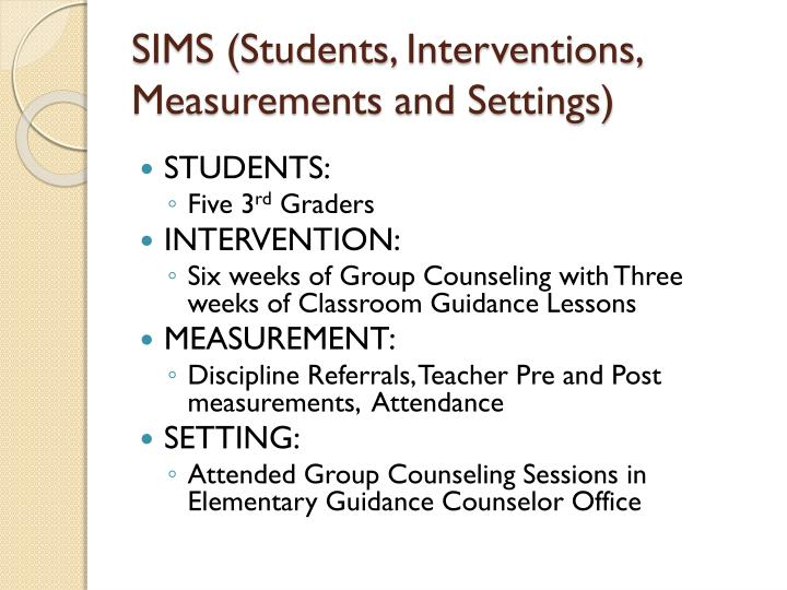 SIMS (Students, Interventions,