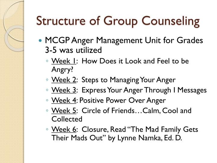 Structure of Group Counseling