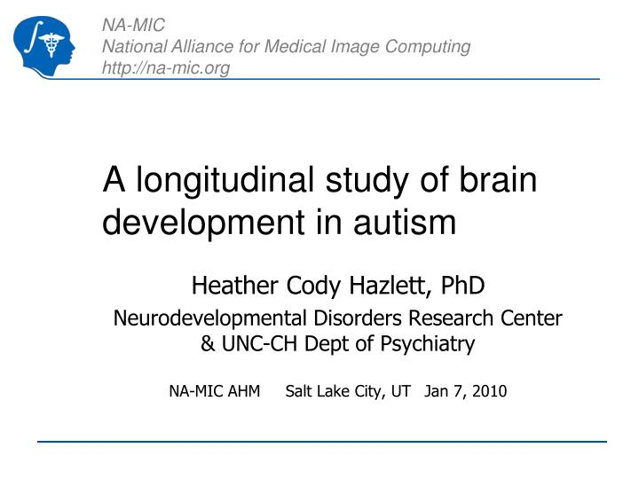 A longitudinal study of brain development in autism