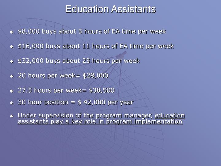 Education Assistants