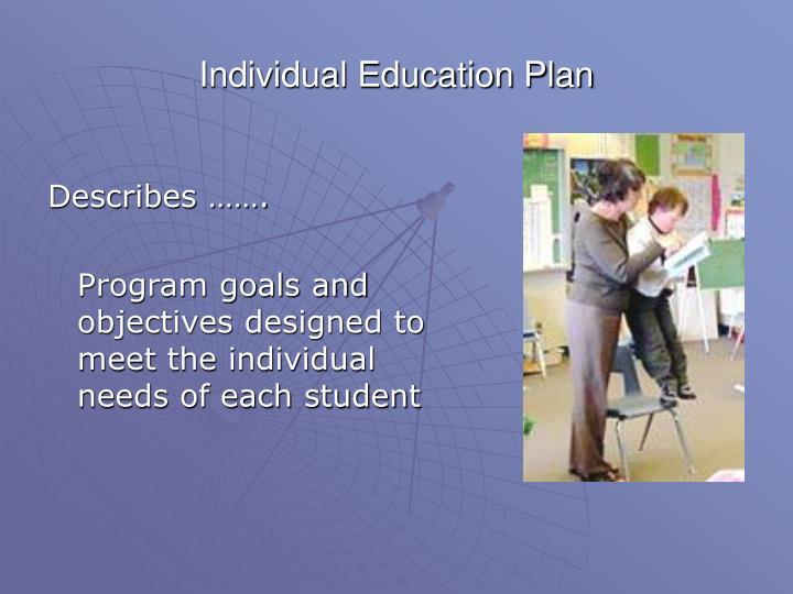 Individual Education Plan