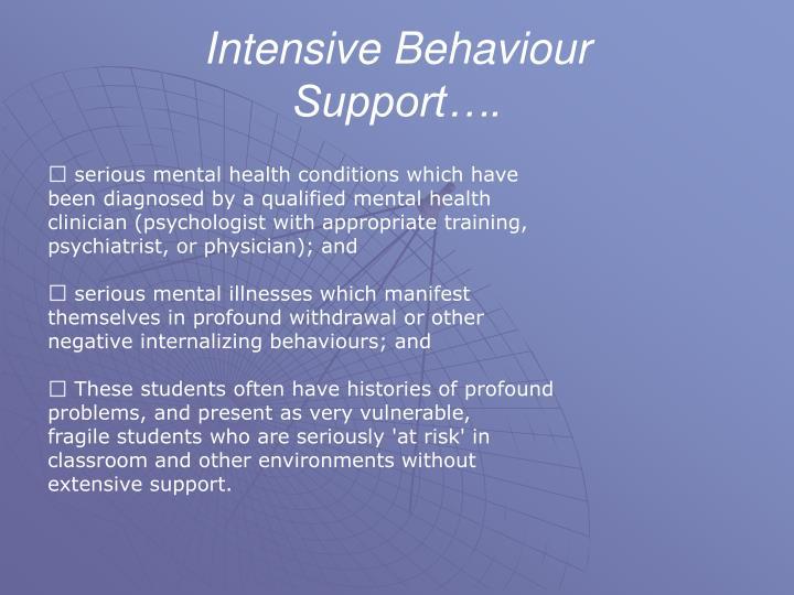Intensive Behaviour