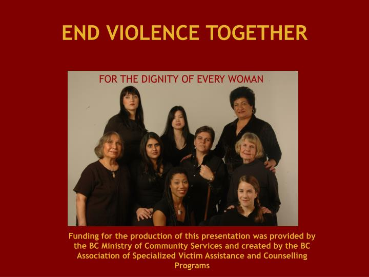 END VIOLENCE TOGETHER