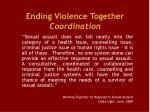 ending violence together coordination