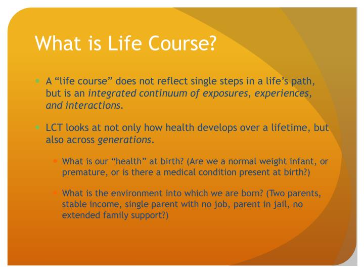 What is Life Course?