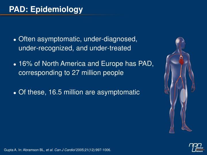 PAD: Epidemiology