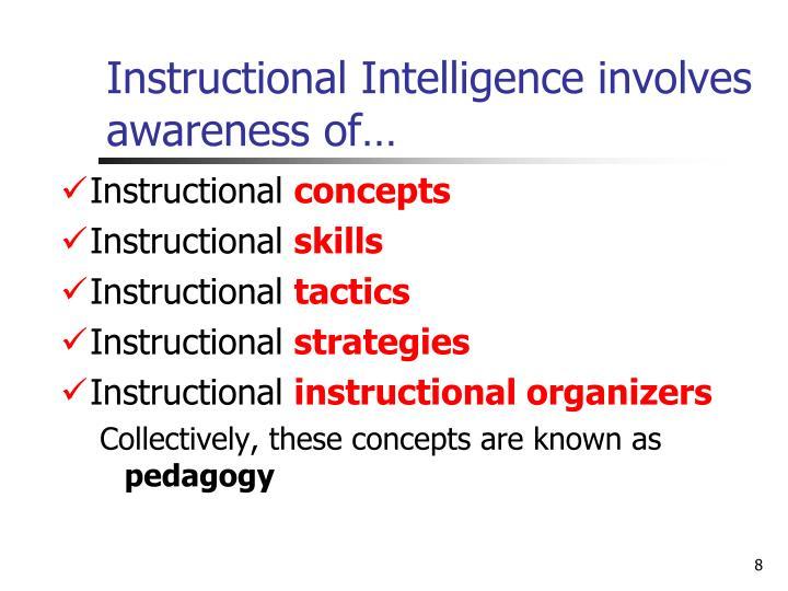 Instructional Intelligence involves awareness of…