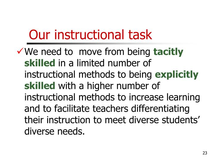 Our instructional task