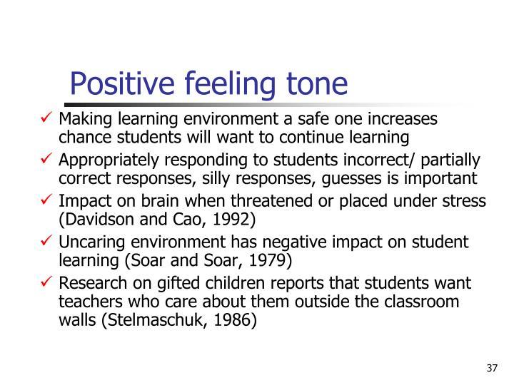 Positive feeling tone