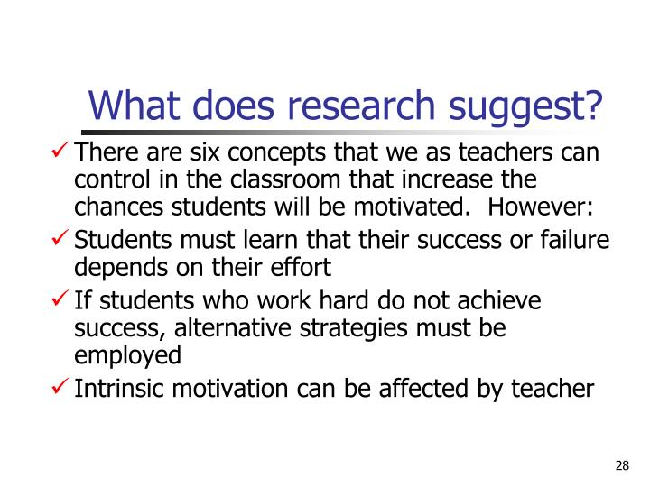 What does research suggest?