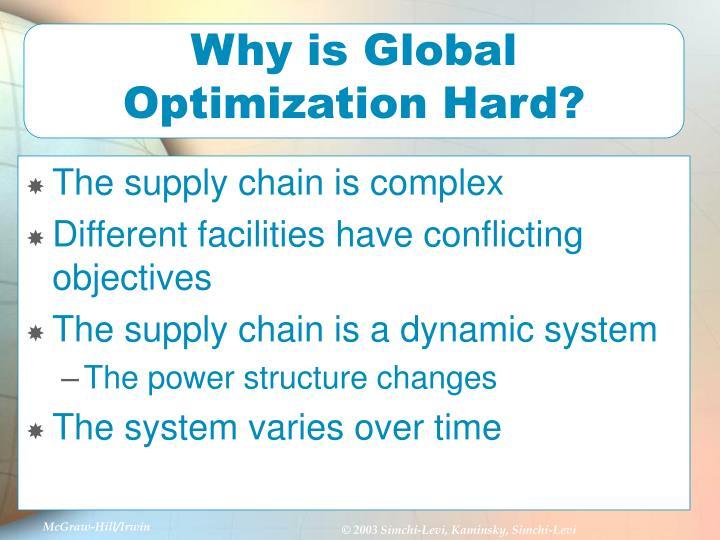 Why is Global Optimization Hard?