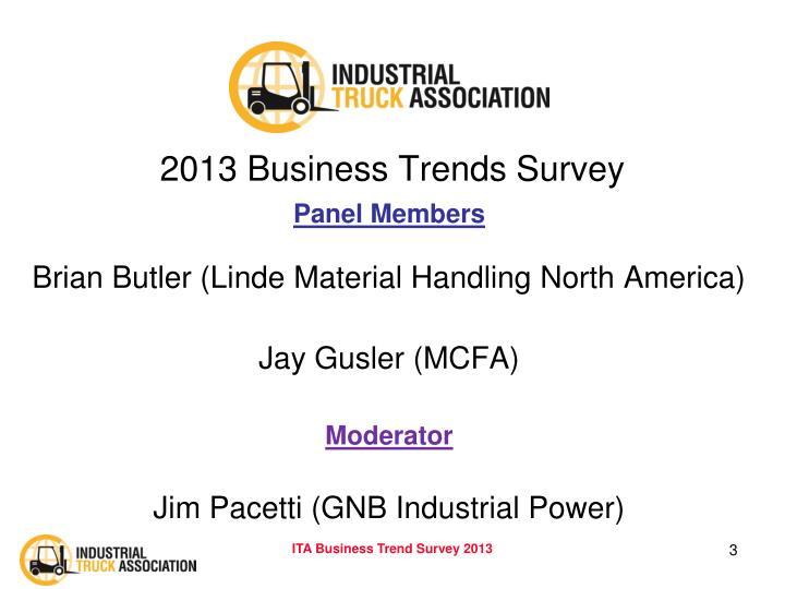 2013 Business Trends Survey
