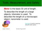 tools measurement and safety5