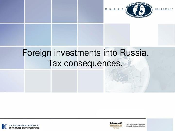Foreign investments into Russia