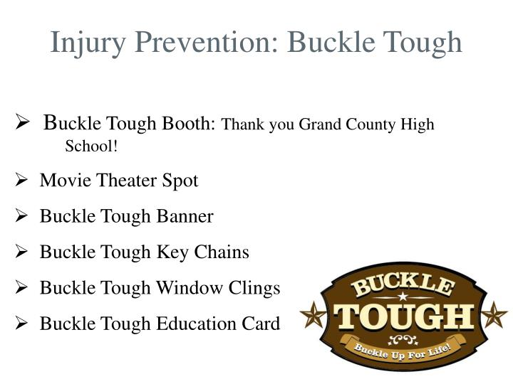 Injury Prevention: Buckle Tough