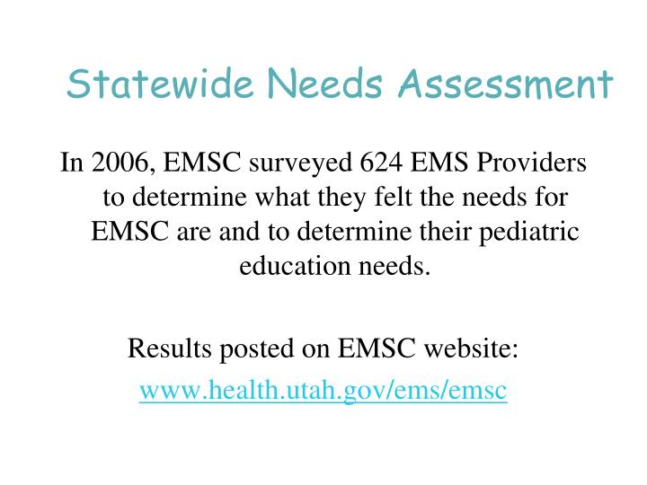 Statewide Needs Assessment