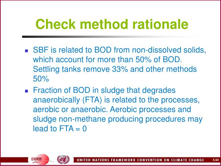 Check method rationale