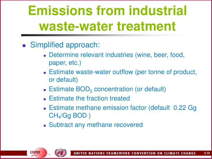 Emissions from industrial waste-water treatment