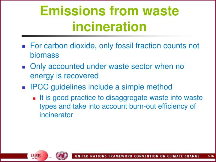Emissions from waste incineration