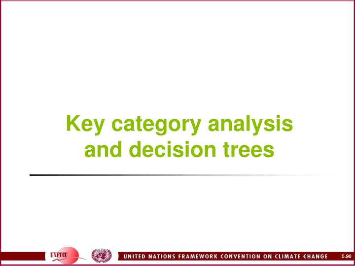 Key category analysis and decision trees