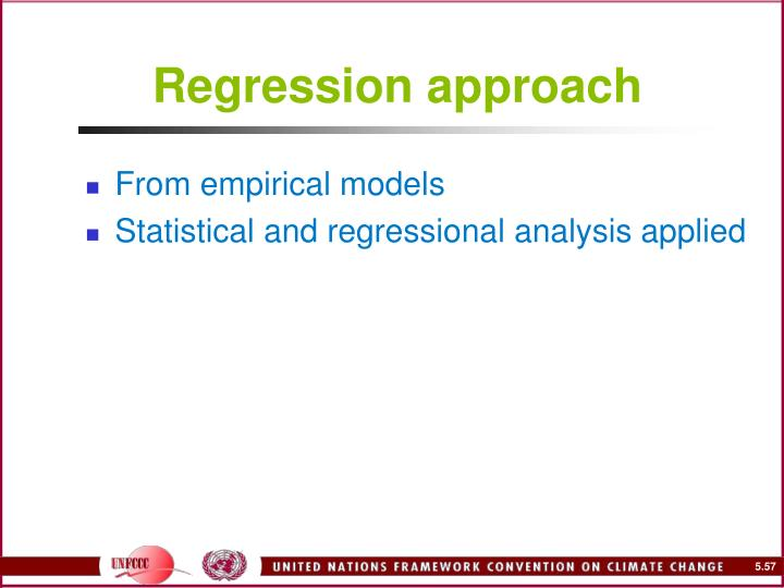 Regression approach