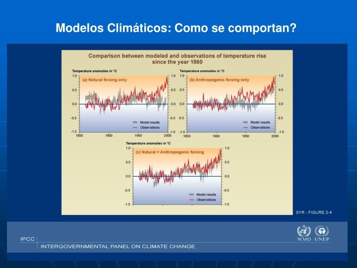 Modelos Climáticos: Como se comportan?