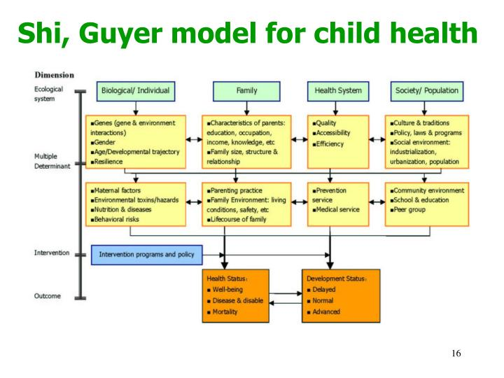 Shi, Guyer model for child health
