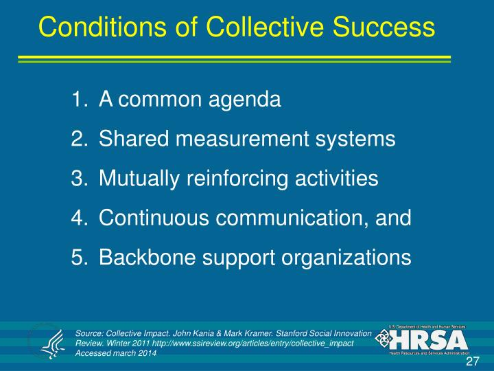 Conditions of Collective Success