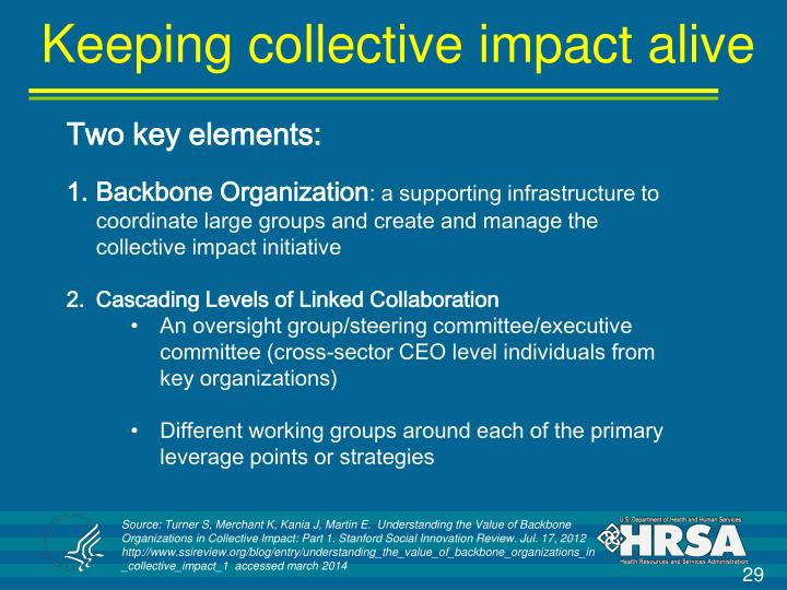 Keeping collective impact alive