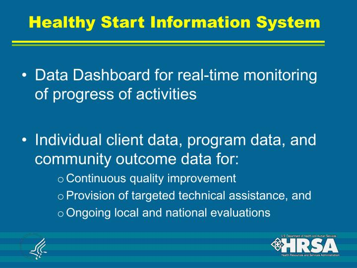 Healthy Start Information System