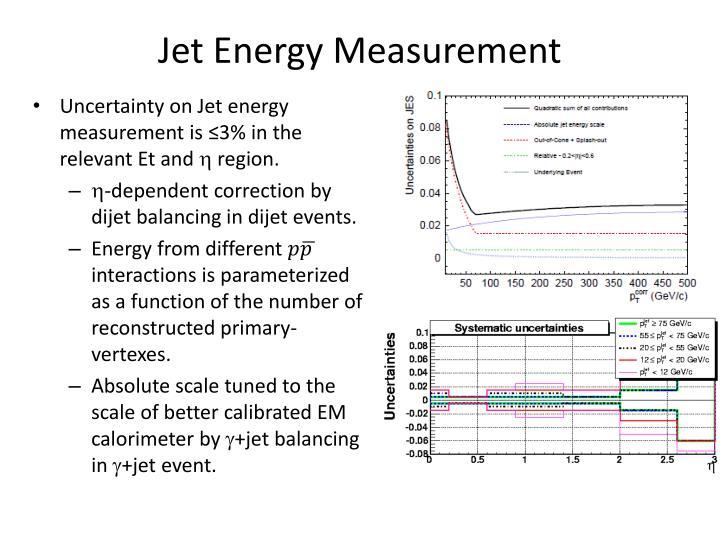 Jet Energy Measurement