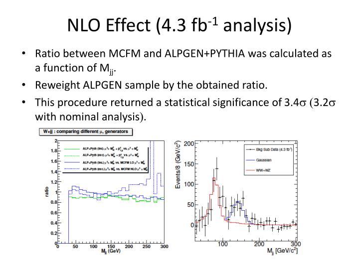 NLO Effect (4.3 fb