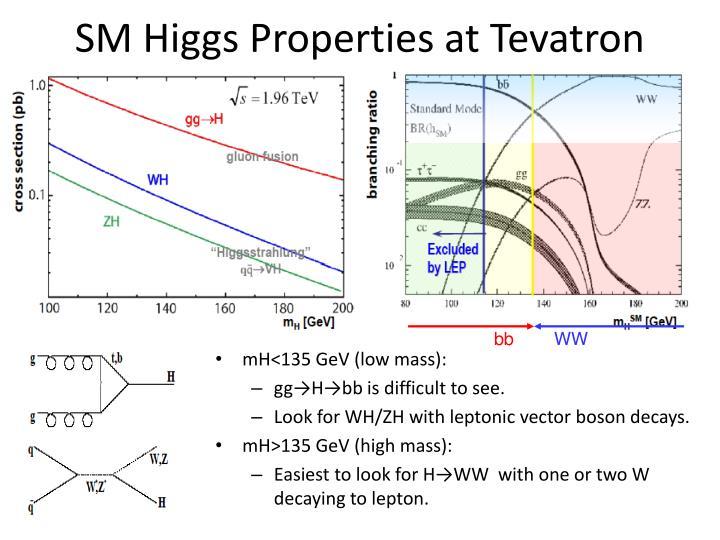 SM Higgs Properties at Tevatron