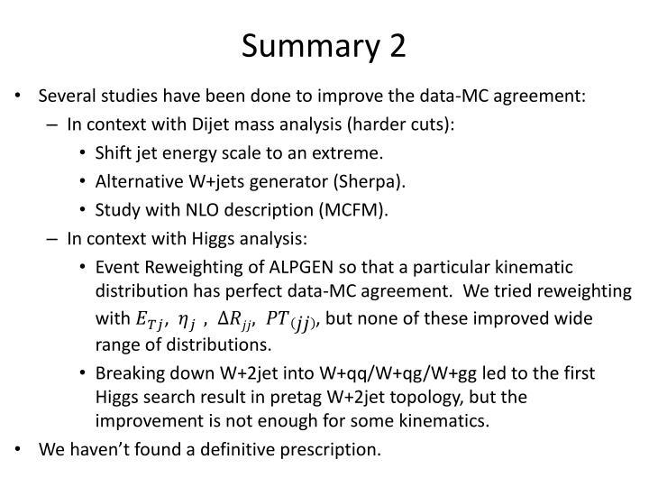 Summary 2