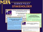 science policy stakeholder