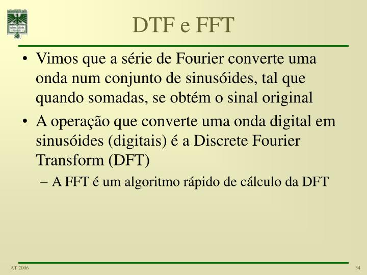 DTF e FFT