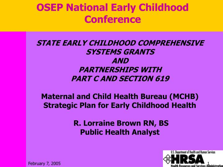 OSEP National Early Childhood Conference
