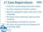 1 st line supervisors