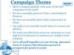 campaign theme