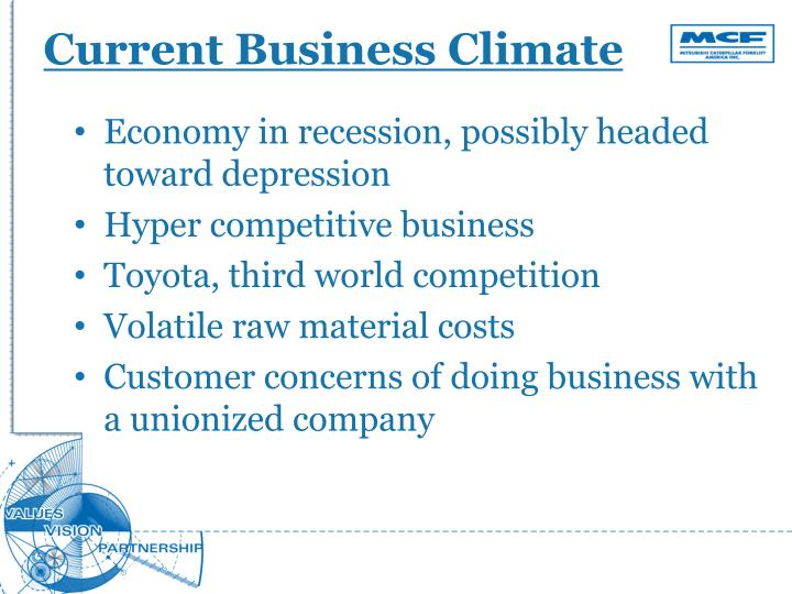 Current Business Climate