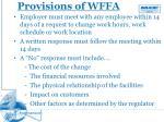 provisions of wffa