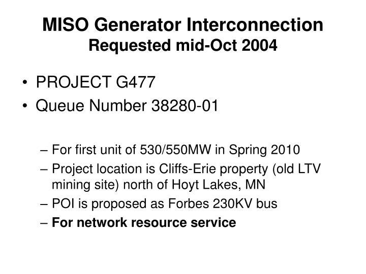 MISO Generator Interconnection