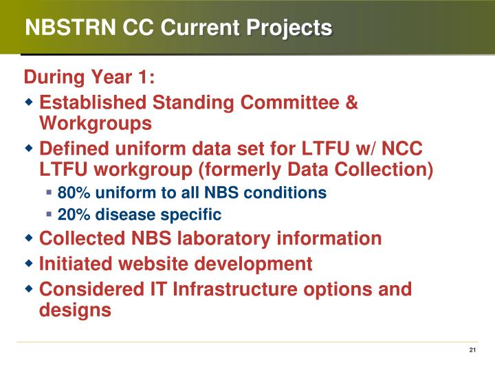 NBSTRN CC Current Projects